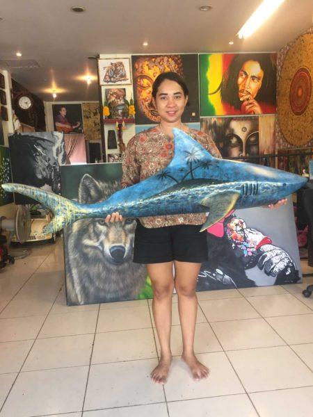 shark artist from thailand