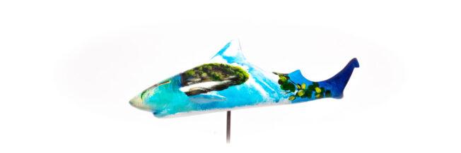 phuket shark art sculpture