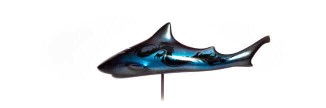 seadragon shark art sculpture