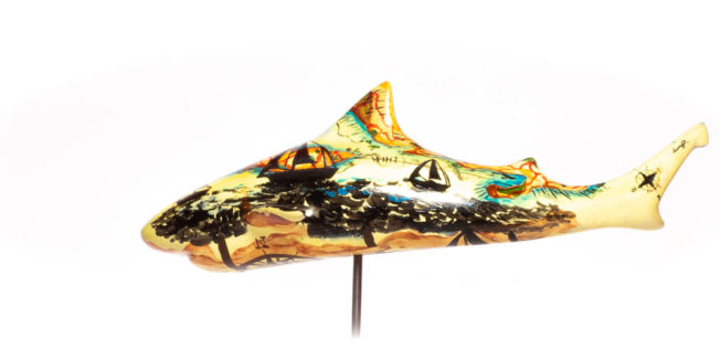 the journey shark art scultpure