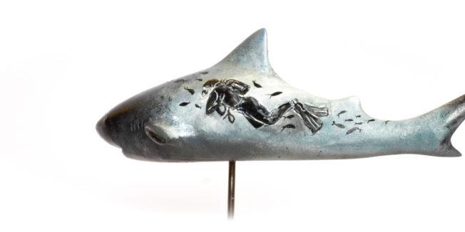 diver dream fin arts shark art
